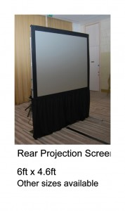 6ft rear screen